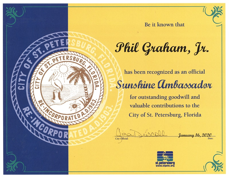 Sunshine Ambassador Award for Phil Graham