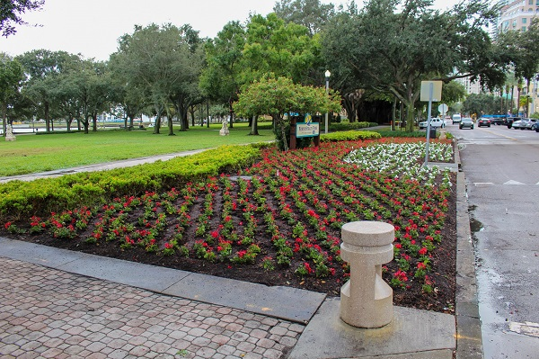 North Straub Park Flower Bed Planting