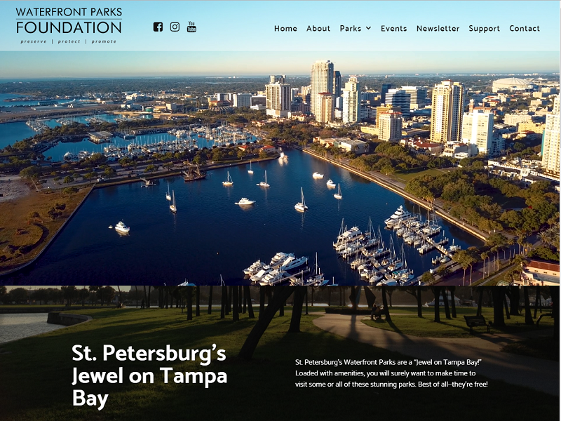 Waterfront Parks Website Screenshot